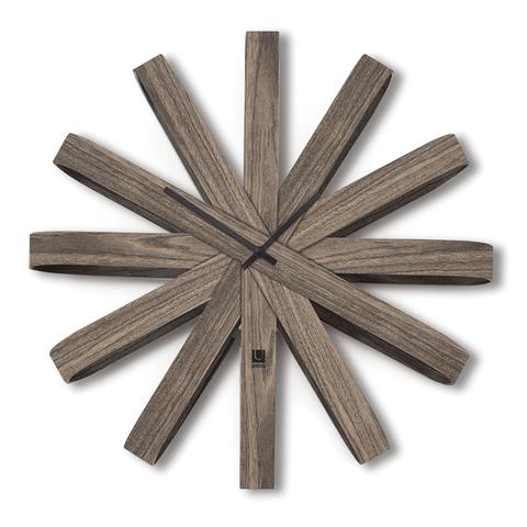 Часы настенные Ribbonwood большие состаренный орех