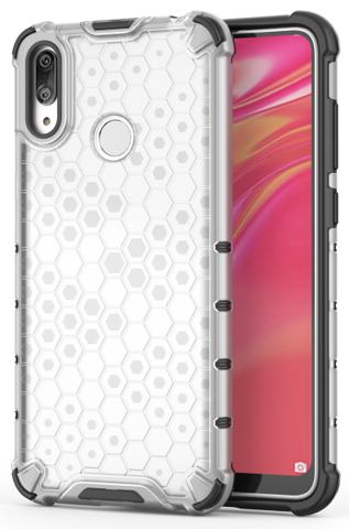 Усиленный чехол для Huawei Y7 с 2019 года от Caseport, серия Honey, прозрачный