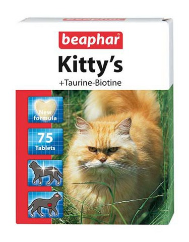 12509 Беафар Витамин Китти Таурин/биотин д/кошек 75таб.*12*144