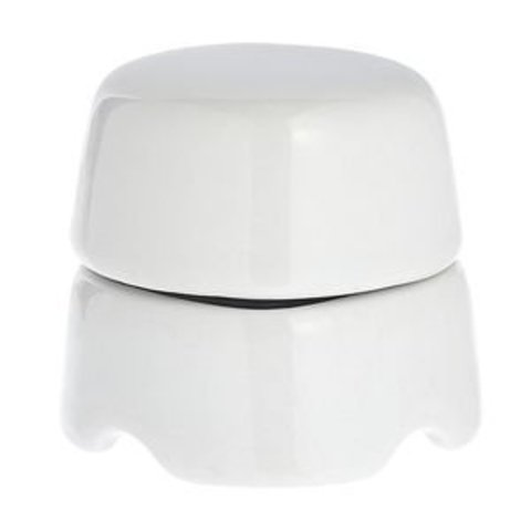 Распаечная коробка малая D60, для наружного монтажа. Цвет Белый. Salvador. BOX1WT