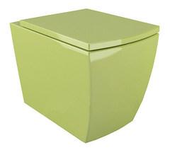 Подвесной унитаз Arcus G 050 салатовый, дюропластовое сиденье с микролифтом