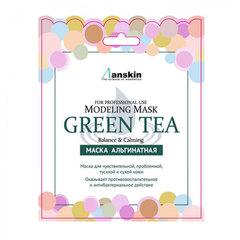 Anskin Original Green Tea Modeling - Маска альгинатная с экстрактом зеленого чая, успокаивающая