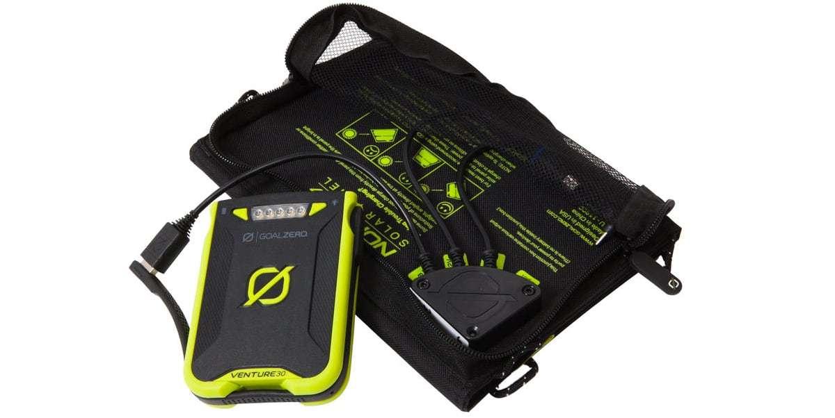 Зарадный комплект Goal Zero Venture 30 Solar Kit (с Nomad 7+) с другой стороны