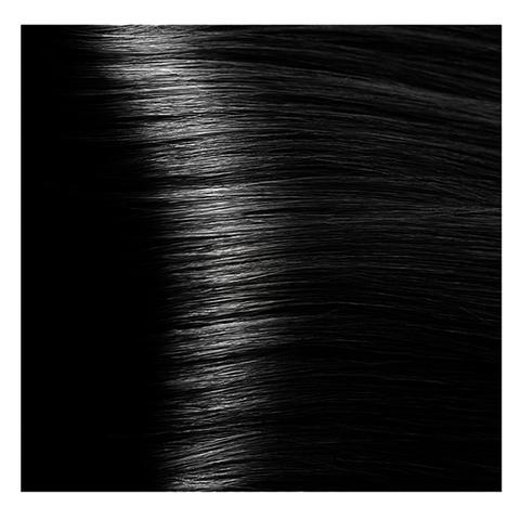 Крем краска для волос с гиалуроновой кислотой Kapous, 100 мл - HY 1.00 черный интенсивный