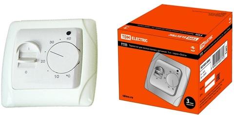 Термостат для теплых полов ТТП 16А 250В с датчиком 3м