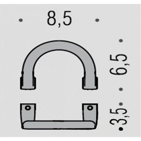Крючок Colombo Lulu  LC47, хром схема