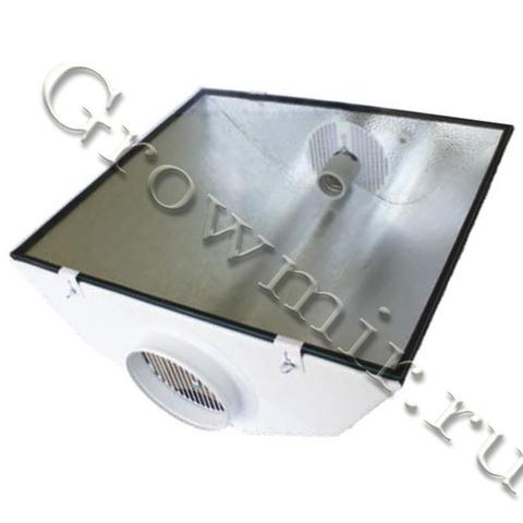 SPUDNIK Air Cooled Reflektor, Stucco, Glass 490 x 550 mm, Anschlussflansch: 150 mm