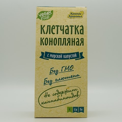 Клетчатка конопляная с морской капустой КОМПАС ЗДОРОВЬЯ, 150 гр