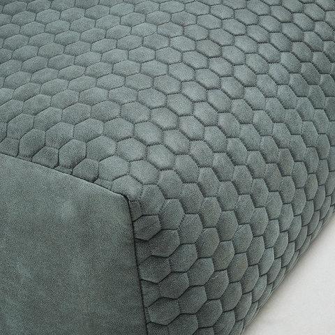 Пуф Damian 60x60 стеганый зеленый