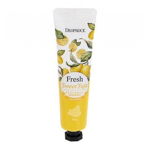 Deoproce Fresh Sweet Yuja Perfumed Hand Cream - Парфюмированный крем для рук с экстрактом цитрона