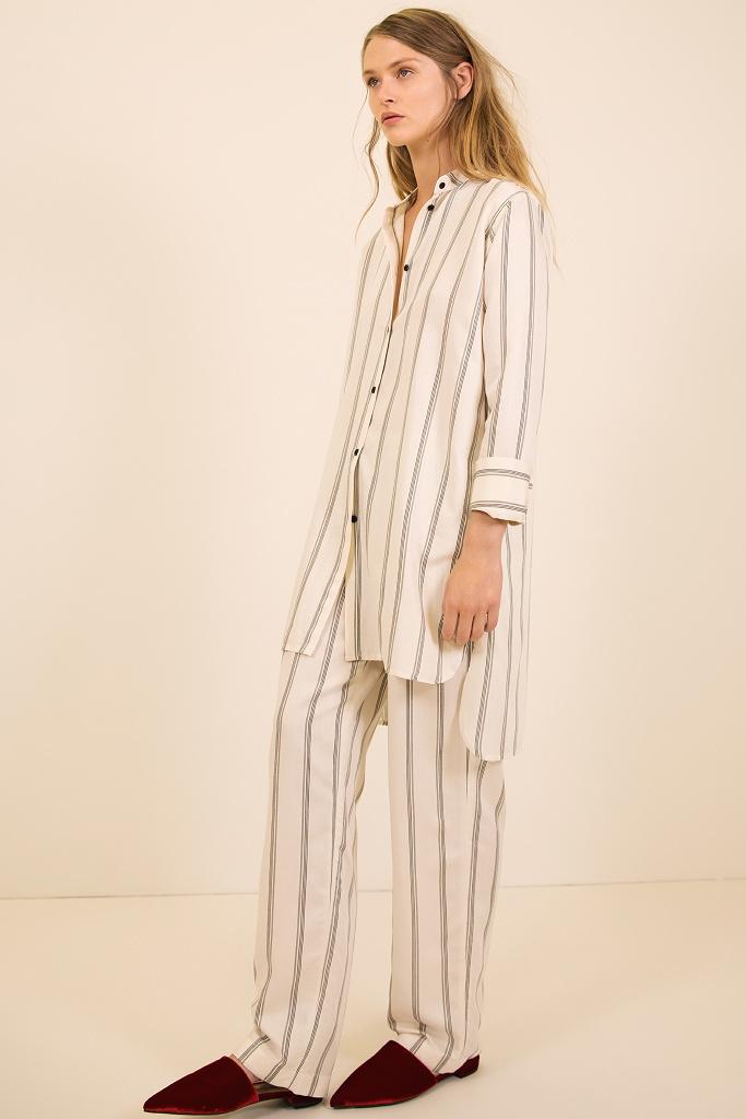 Элитная женская пижама в полоску Pluto