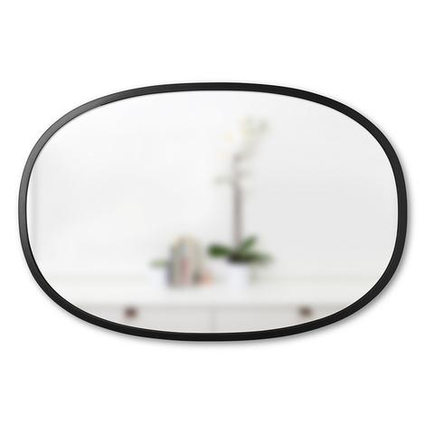 Зеркало овальное HUB 61 х 91 см черное