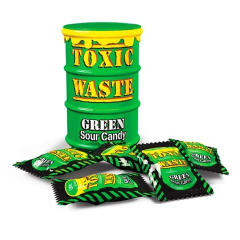 Кислые леденцы Toxic Waste Green