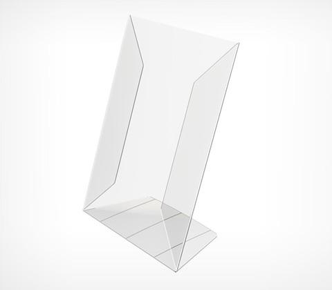 Подставка из ПВХ,  PVC-PRICER-A6  L-образная, вертикальныя
