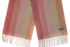 Шерстяной шарф розовый полосатый 30521