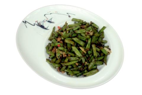 9-13Фасоль с мясным фаршем(ОСТРЫЙ)肉末四季豆 350гр