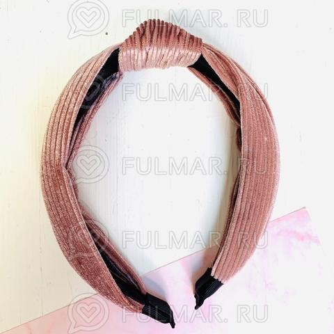 Ободок с узлом модный на голову женский  для волос (цвет: пыльная роза)