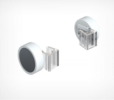 Держатель рамки магнитный , круглый, угол 0 градусов MGT-RND-00