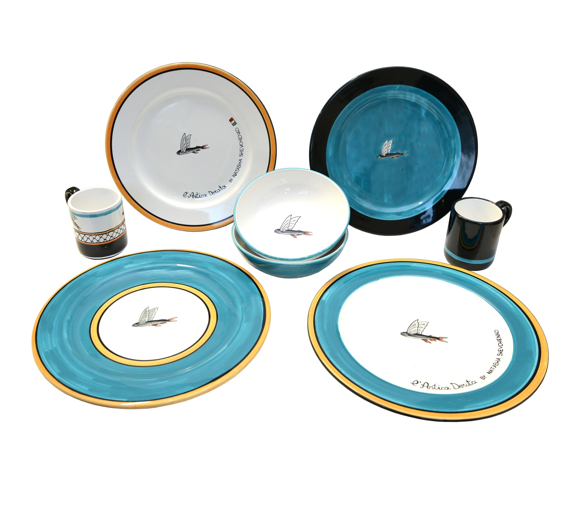 Set of plates Flying Fish collection, 4 pc.