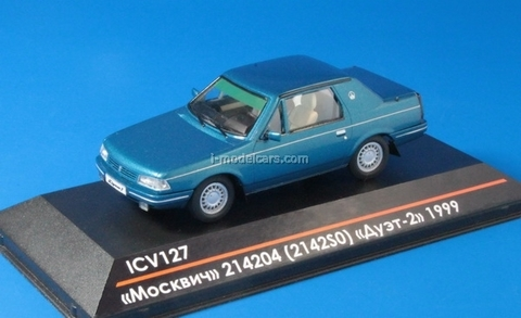 Moskvich-214204 (2142S0) Duo-2 1999 Limited Edition of 75 blue-green metallic 1:43 ICV127