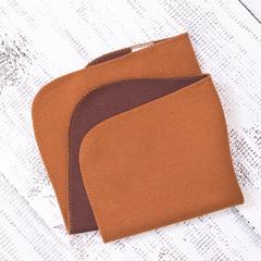 Полотенце 30х30 коричневое