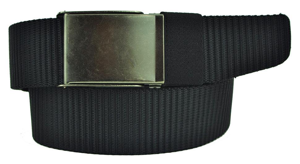 Ремень текстильный чёрный стропа 4 см 40Stropa-097