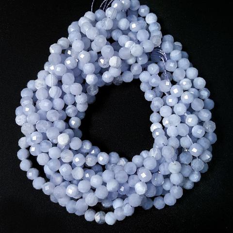 Бусины сапфирин A граненый 4,2 мм нить 19 см
