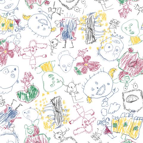 Вероника принт. Детский карандашный рисунок