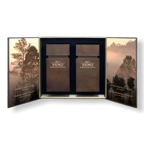 KIOKO WOOD ESSENCE 9-00041940 Подарочный набор чёрного чая в деревянных тубусах, 200 г (2 х 100 г)