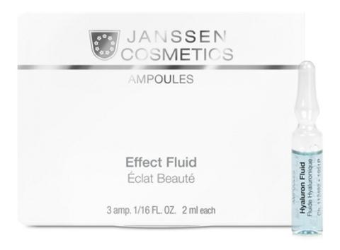 Ультраувлажняющая сыворотка с гиалуроновой кислотой Janssen Hyaluron Fluid,3 амп.х2 мл.