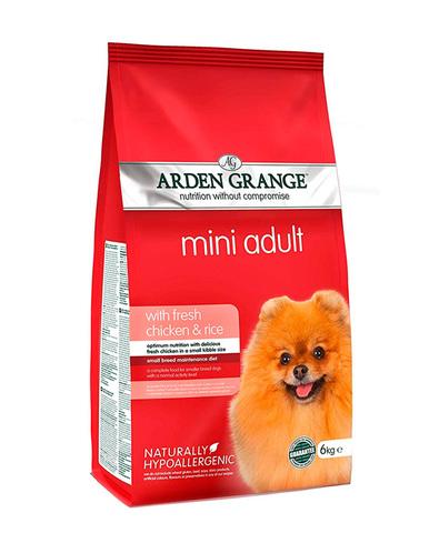 Arden Grange Adult Mini сухой корм для собак мелких пород (с курицей и рисом) 2 кг