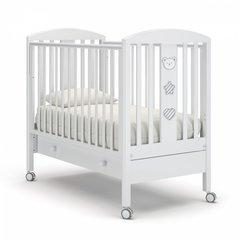 Кровать детская Дени люкс с ящиком белый