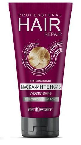 BelKosmex Professional Hair Repair Питательная маска-интенсив укрепление и восстановление волос 180г