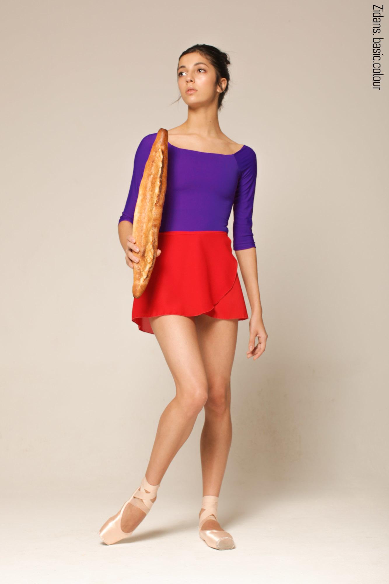 Scarlet wrap chiffon skirt  | 4 lengths