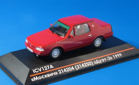 Moskvich-214204 (2142S0) Duo-2 1999 red 1:43 ICV127A