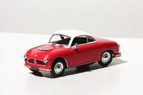 AWZ P70 Coupe red-white 1:43 DeAgostini Kultowe Auta PRL-u #66