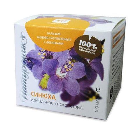 Натуроник медово-растительный Синюха, 100 гр. (Сашера Мед)