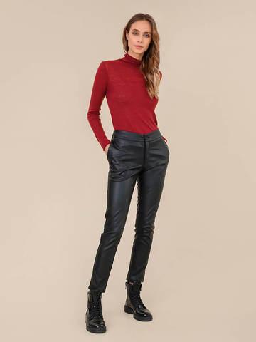 Женский свитер бордового цвета из 100% шерсти - фото 5