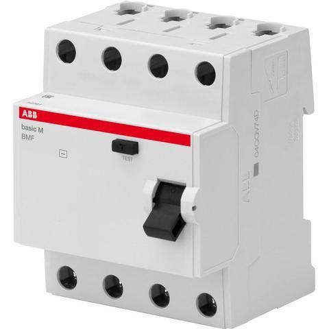 Дифф. выключатель тока УЗО 4-полюсный 25 А, тип AC (перемен.), 4,5 кА BMF41425. ABB. 2CSF604041R1250