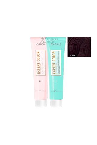 Expert Color Hair Color Cream 4/756 шатен махагоново-фиолетовый 100 мл