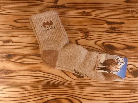 Носки из верблюжьей шерсти camel / р. 45-46 (Светло-коричневые) фото1