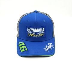 Кепка с вышитым логотипом Ямаха 46 tech 3 (Кепка Yamaha 46) синяя