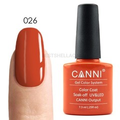 Canni, Гель-лак № 026, 7,3 мл