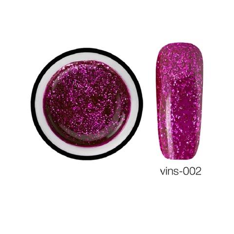 Гелевая краска Vins с блестками 02, 5 мл.