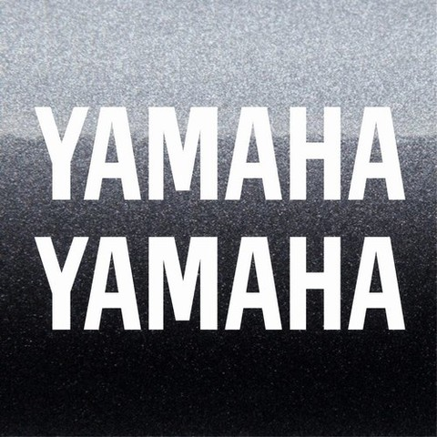 Набор виниловых наклеек на мотоцикл Yamaha 2 шт.