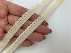Резинка отделочная крем 10 мм