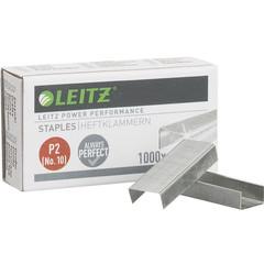 Скобы для степлера №10 Leitz никелированные (1000 штук в упаковке)