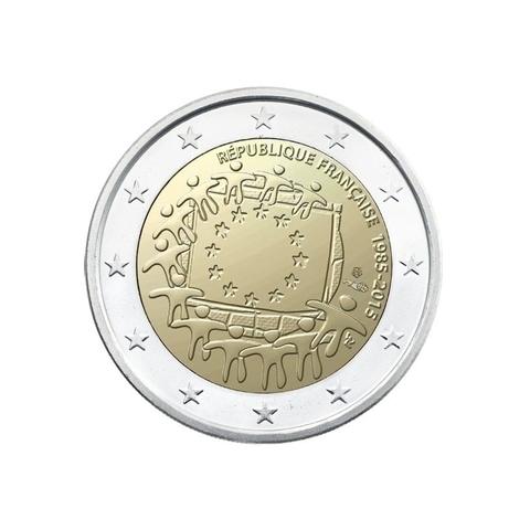2 евро 2015 год Франция - 30 лет флагу Европейского союза