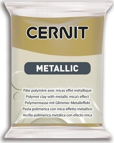 Полимерная глина CERNIT METALLIC  античное золото