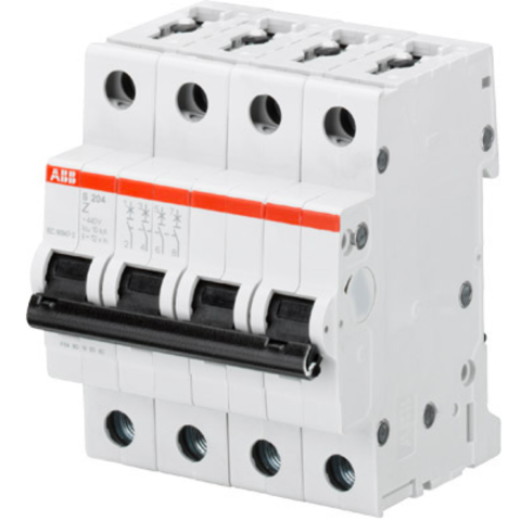 Автоматический выключатель 4-полюсный 40 А, тип Z, 6 кА S204 Z40. ABB. 2CDS254001R0558